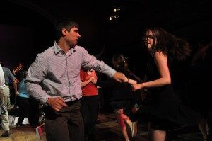Couple dancing together - exciting date night - passion in relationship
